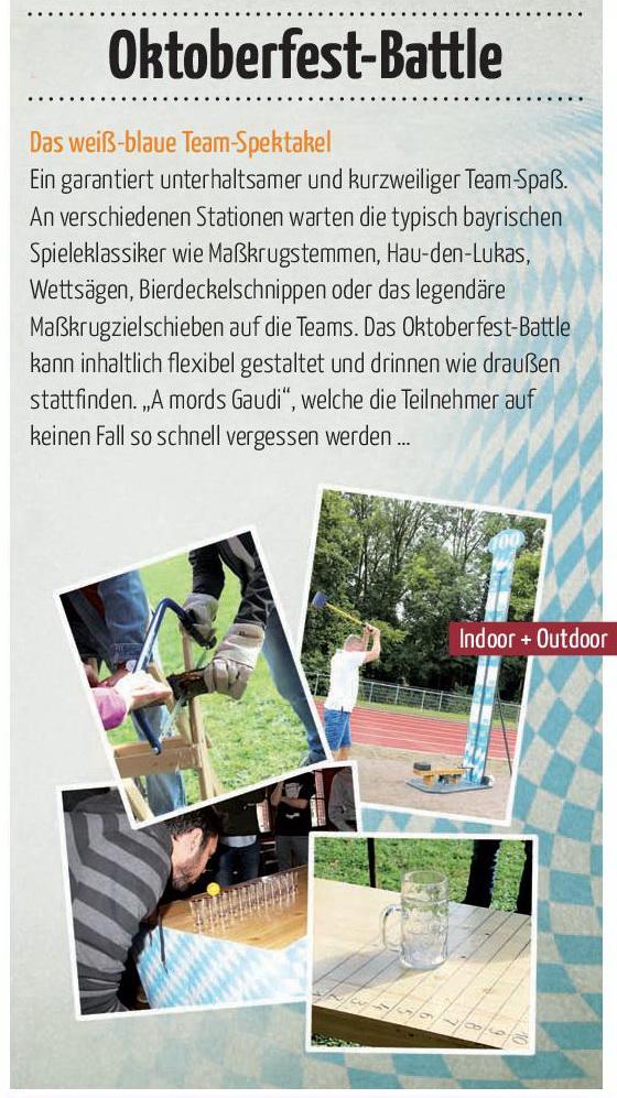 Rahmenprogramm Tagung Team-x Oktoberfest
