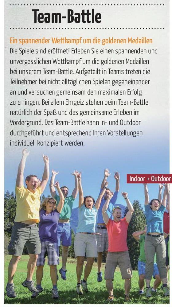 Rahmenprogramm Tagung Team-x Team Battle